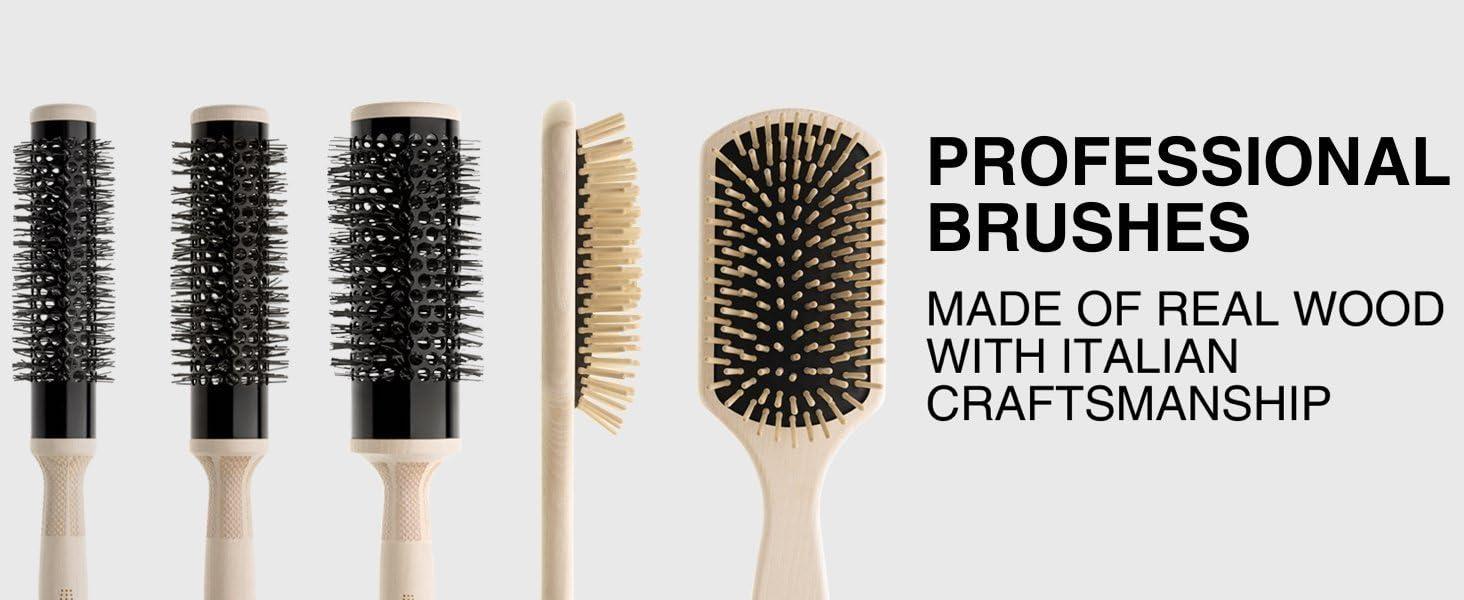 professional brush wood italian thermal hair hairdryer styler thermic elchim