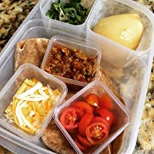 easylunchboxes, small, dressing, leakproof, container, lunch, bento, packed, spillproof