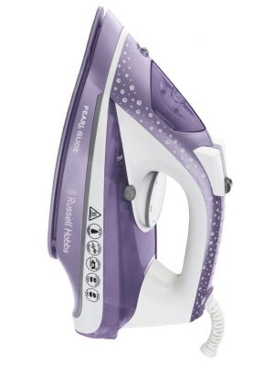 Russell Hobbs Pearl Glide Steam Iron in Dusk, 315 ml Tank, 2600 W - 23974