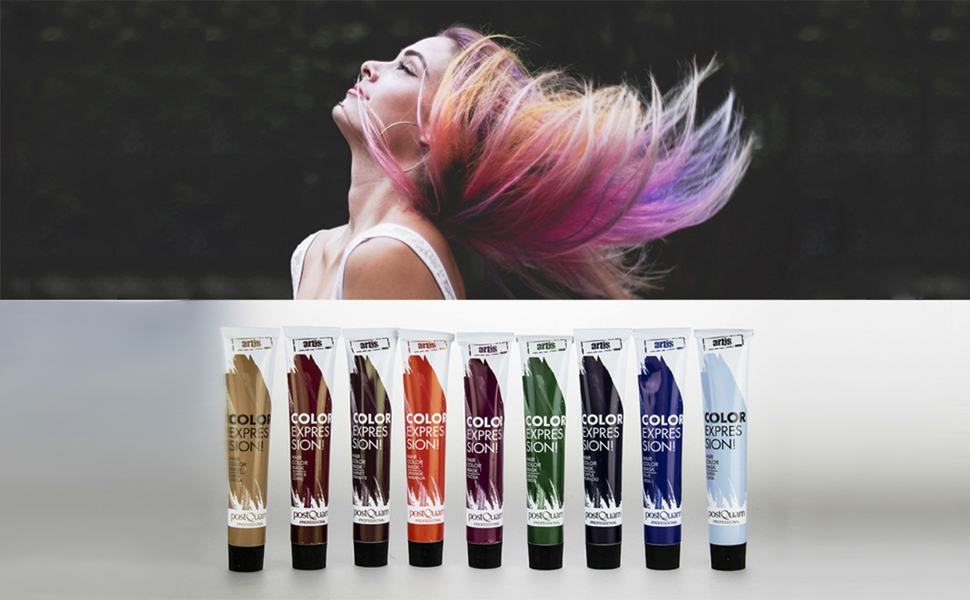 PostQuam - Mascarilla Color Expression, Tinte temporal de pelo - Color Naranja - Pack de 3 unidades - 60 gr