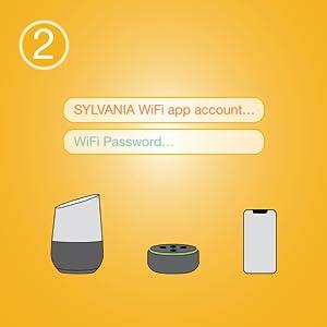 Sylvania smart LED light bulb  lighting WiFi