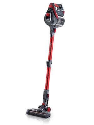 Ariete 2763 - Aspirador vertical de mano y escoba sin cable 2 en 1, ciclónico, recargable filtro hepa, 2 velocidades, batería Litio, luz LED, color negro y rojo: Amazon.es: Hogar