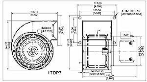 Dayton 1tdp7 Rectangular Permanent Split Capacitor Oem Specialty Blower Wood Stove