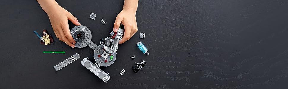 LEGO Star Wars(tm) Cannone della Morte Nera 75246, Parti per una Nuova Avventura Galattica a Bordo della Potente Morte Nera, Set di Costruzioni per Bambini +7