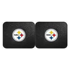 FANMATS 9998  NFL Pittsburgh Steelers Vinyl Utility Mat,Black,14x17
