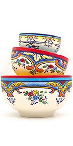 small medium and large mixing bowl