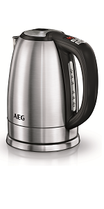 AEG KF7600 Cafetera Eléctrica, 1080 W, 1.25 litros, Acero