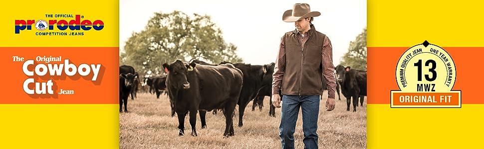original cowboy cut jean, cowboy cut jeans, mens jeans, jeans for men, wrangler jeans