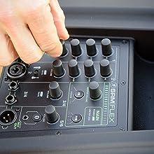 Mackie, SRM-Flex, Portable PA system, Column, Mixer