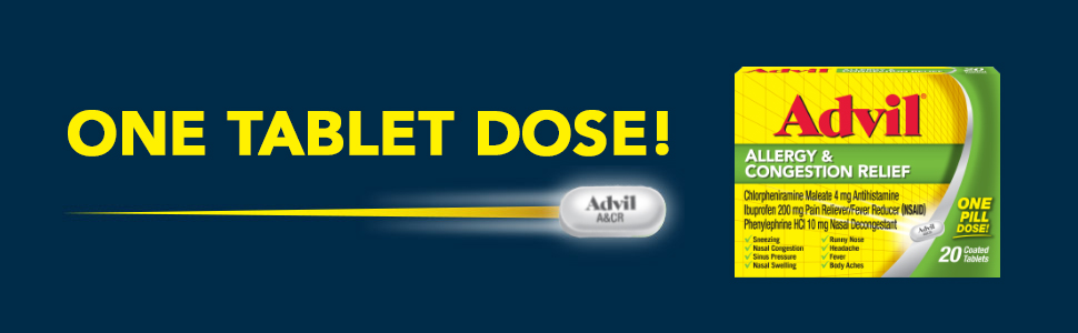 Advil Allergy and Congestion One Tablet Dose