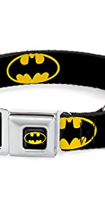 Batman Yellow Black Icon Bat Logo Dark Knight DC Comics Book Super Hero Collar Dog Pet