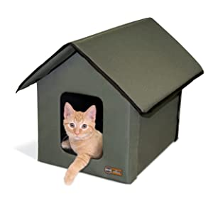 K&H Pet Products, KandH, KH Pet, heated cat house, heated kitty house, outdoor cat houses for winter