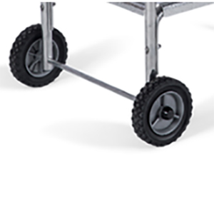Large wheels for easy movement of The Original PK Grill & Smoker