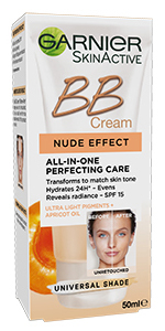 Garnier BB Cream Nude Effect