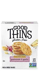 Good Thins Parmesan amp; Garlic Rice amp; Cheese Snacks Gluten Free Crackers