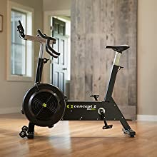 BikeErg in a home setting for storage