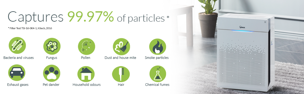 Purificateur dair Winix Zero Pro jusqu/à 120 m/² purificateur dair pour allergiques, fumeurs, pollen, poussi/ère Avec un syst/ème de filtration en 5 /étapes.