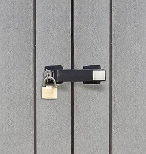 Keter - Cobertizo de jardín exterior Duotech Patio Store, Color gris