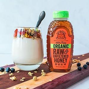 organic honey granola sweetener sweetner raw honey natural honey usda