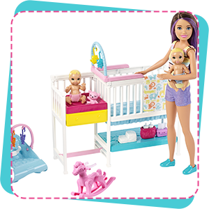 Buy Barbie Gfl38 Nursery Playset With Skipper Babysitters Inc Doll 2 Baby Dolls Crib And 10 Accessories For Storytelling Online At Low Prices In India Amazon In