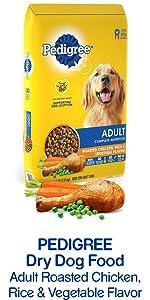Pedigree Dry Dog Food Adult Roasted Chicken Rice & Vegetable Flavor, Crunchy Kibble