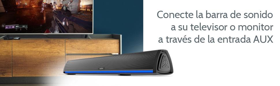 Audible Fidelity Barra de Sonido con Bluetooth, Audible Fidelity para Videojuegos, Música, TV