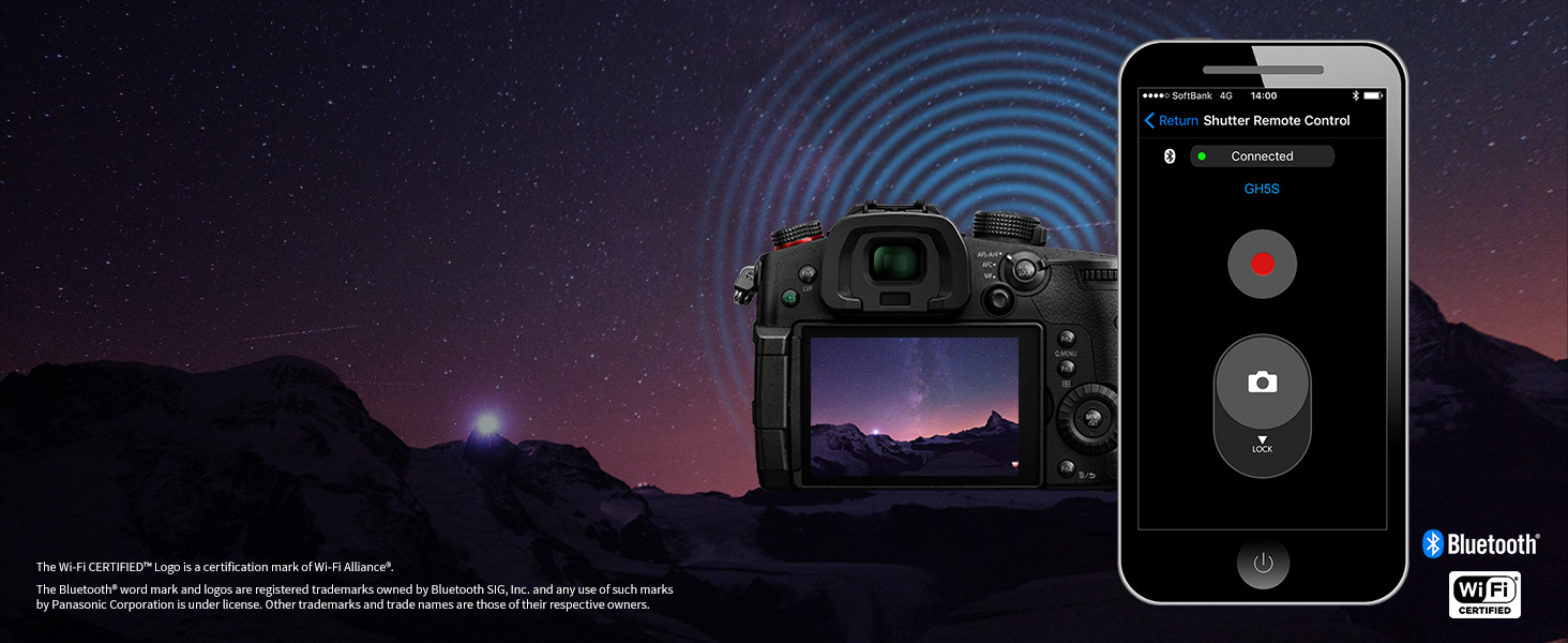 Lumix GH5s wifi bluetooth
