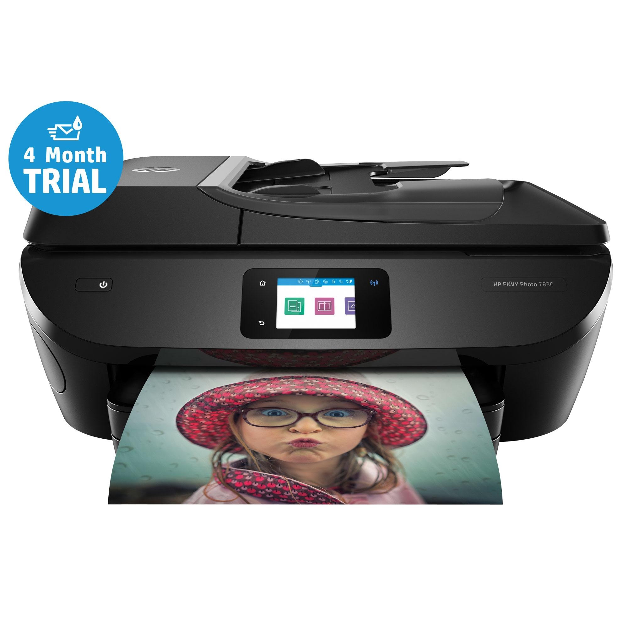 hp envy photo 7830 all in one wi fi photo printer with 4 months instant ink. Black Bedroom Furniture Sets. Home Design Ideas