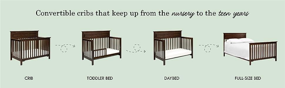Amazon Com Davinci Autumn 4 In 1 Convertible Crib In Slate Greenguard Gold Certified Baby