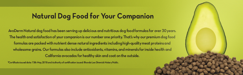 avoderm natural dog food made with avocados