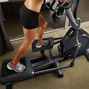 Nautilus, Nautlis, Elliptical, Trainer, Training, workouts, footplates, cushioning, E614, home