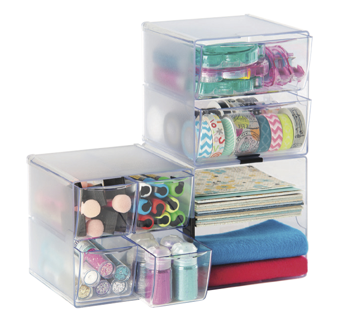 Cube Organizer, Storage Cube Organizer, Craft Supplies Organizer, Desk  Organizer, Deflecto Stackable