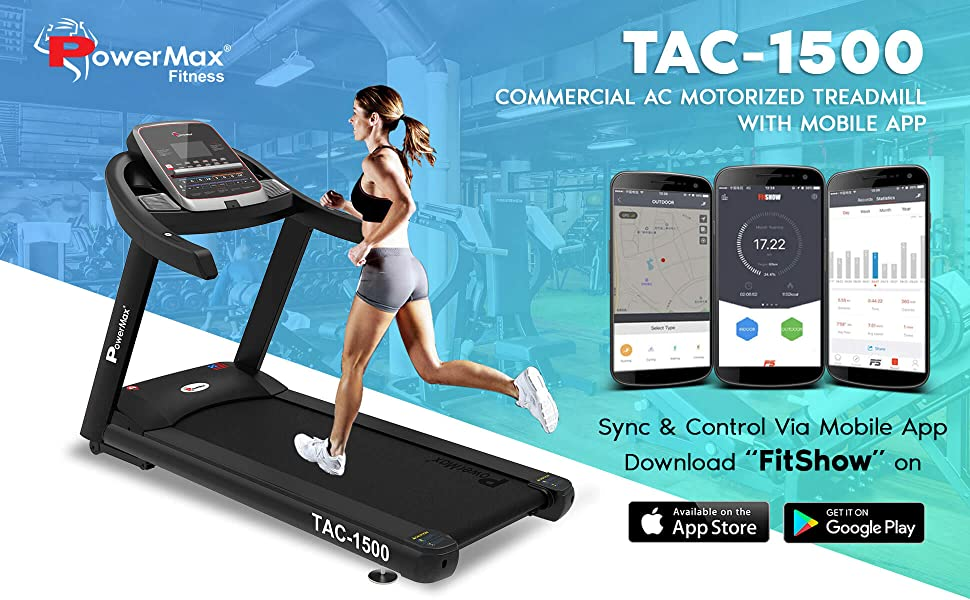 commercial ac motorised treadmill for gym