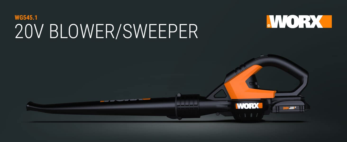 Worx Air; blower, sweeper; accessories; 20V; power share