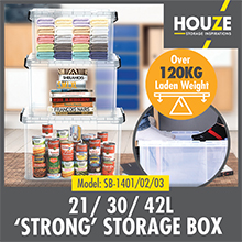 Stackable design Storage box: HOUZE - 21L 'STRONG' Box