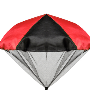 Red glow parachute
