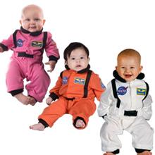 Astronaut Romper Orange White Pink