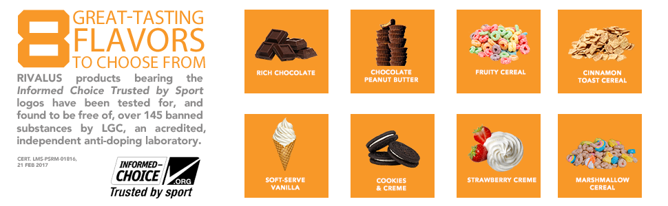8 Great Tasting Flavors to Choose from.
