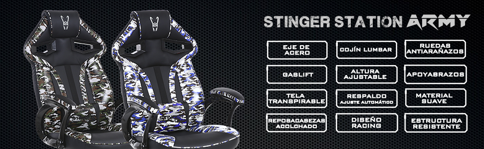 silla gaming stinger station army