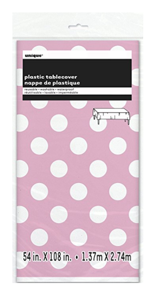 ... Polka Dot Plastic Tablecloth 108\  x 54\  Light Pink  sc 1 st  Amazon.com : polka dot plastic plates - pezcame.com