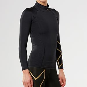 0a6894690b Amazon.com: 2XU Women's MCS Thermal Compression Top (Black/Gold ...