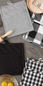 trivet checkered set of 4 home improvement decorating black and white