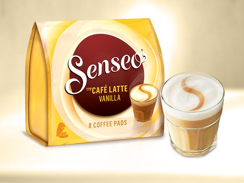 Senseo Pads Café Latte Vanilla, 80 Kaffeepads, 10er Pack