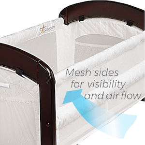 Arm/'s Reach Cambria Baby Co-Sleeper Bedside Bassinet White//Espresso NEW
