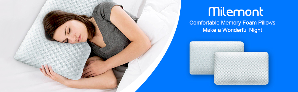 Cream Down Alternative Case Queen Blue Cooling Gel Comfort Memory Foam Pillow