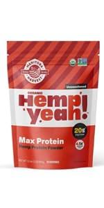 manitoba harvest hemp yeah max protein fiber powder plant based omega organic vegan kosher gluten