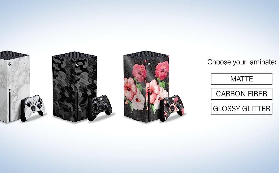 Matte Carbon Fiber Glossy Glitter