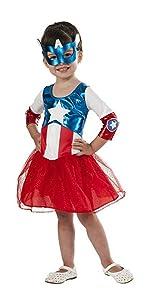 Girls Captain America Dress