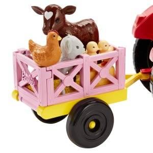 Barbie Quier Ser granjera, muñeca con accesorios, tractor y ...