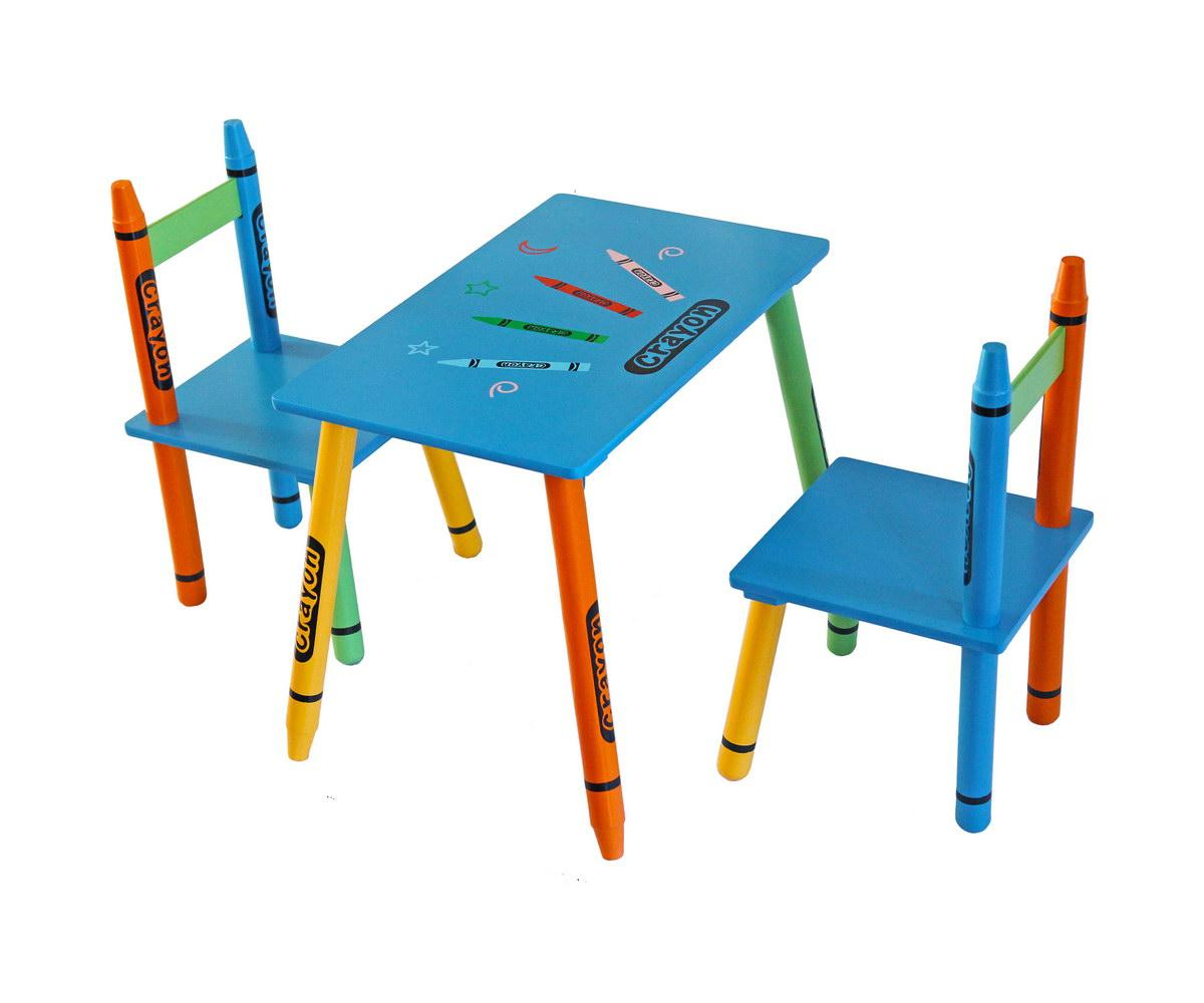 Bebe Style Childrens Wooden Table and Chair Set Blue Amazon